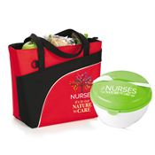 Nurses: It's In Our Nature To Care Red Harvard Lunch/Cooler Bag & Round Food Container Combo