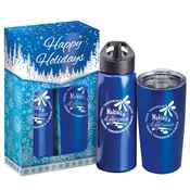 Making A Difference Today, Tomorrow & Always Hot & Cold Beverage Gift Set in Happy Holidays Gift Box