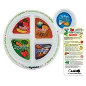 Adult Portion Meal Plate With Glancer - Personalization Available