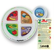 Spanish-Language Adult's Portion Meal Plate With Glancer - Personalization Available