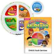 Preschool Portion Meal Plate With Parent-Child Activities Book (Spanish) - Personalization Available