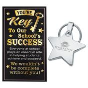 Star Key Ring With Keepsake Card - Personalization Available