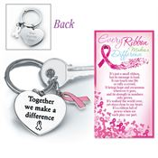 Together We Make A Difference Metal Key Ring With Keepsake Card Gift Boxed - Personalization Available