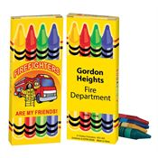 Firefighters Are My Friends! Non-Toxic Fire Safety Crayons - Personalization Available
