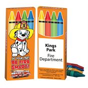 Do Your Part, Be Fire Smart! Non-Toxic Fire Safety Crayons - Personalization Available