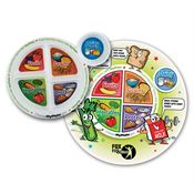 MyPlate Child's Round Laminated Placemat & Child's Portion Plate Combo - Personalization Available