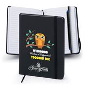 Whooooo Makes A Difference Yooooou Do! Journal Notebook & Bookmark Pen - Personalization Available