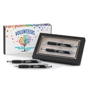 Volunteers Make The World A Brighter Place Sayville Metal Stylus Pen & Pencil Gift Set With Personalization