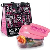 Insulated Words of Inspiration Eco-Lunch Bag & Food Container Gift Combo - Personalization Available
