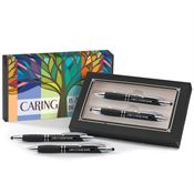 Sayville Metal Stylus Pen & Pencil Gift Set with Caring is Always in Season Sleeve - Personalization Available