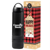 Water Bottle 17-Oz. With Built-In Speaker in Holiday Gift Box - Personalization Available