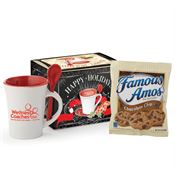 Ceramic Spooner Mug 8-Oz. With Cookies in Holiday Gift Box - Personalization Available