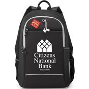 Black Bayside Backpack With Holiday Gift Card - Personalization Available