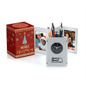 Tri-Fold Frame Clock & Caddy in Merry Christmas Box - Personalization Available