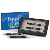 Respiratory Care: Be Well, Breathe Well Sayville Metal Stylus Pen & Pencil Gift Set - Personalization Available