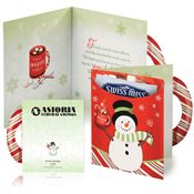 Snowman Greeting Card With Hot Chocolate - Personalization Available