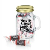 Mini Glass Mason Jar With Tootsie Rolls® - Personalization Available