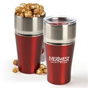 Columbia Stainless Steel Vacuum Tumbler Gift Set with Kettle Corn 20-oz. - Personalization Available