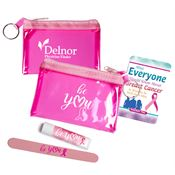 Be You Pink Translucent Zip Purse Gift Combo - Personalization Available