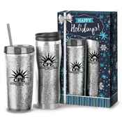 Glitter Hot & Cold Gift Set in Holiday Gift Box - Personalization Available