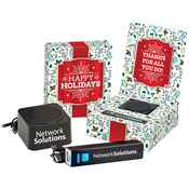 Mini Speaker & UL® Power Bank Gift Set in Holiday Gift Box - Personalization Available