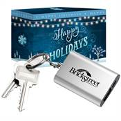 Emergency Power Bank Key Tag in Holiday Gift Box - Personalization Available
