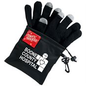 Touchscreen Gloves with Microfiber Pouch & Holiday Gift Card - Personalization Available