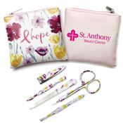 Floral/Hope 5-Piece Manicure Set with Personalization
