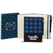 Buffalo Plaid Journal & Stylus Pen In Holiday Gift Box - Personalization Available