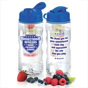 Correctional Officers Fruit Infuser Water Bottle 22-oz.