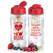 Get Pumped About Heart Health Fruit Infuser Water Bottle