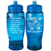 Stand Up For Children Contour Grip Water Bottle (Blue) 27-oz.