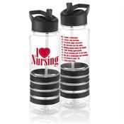 I (Heart) Nursing Tritan™ Gripper Water Bottle