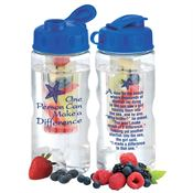 One Person Can Make A Difference Fruit Infuser Water Bottle