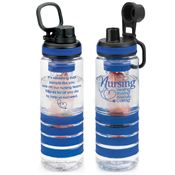 Nursing: Healing, Sharing, Always Caring Fresno Fruit Infuser Water Bottle (Blue)