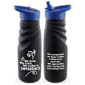 We Love, We Care, We Make A Difference Tahoe Grip Water Bottle