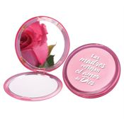 Mothers Are A Reflection Of God's Love Pink Compact Mirror-Spanish
