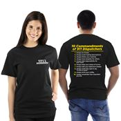 10 Commandments of 911 Dispatchers 2 Sided Short-Sleeve T-Shirt