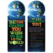 Be The Change You Wish To See In The World Die-Cut Bookmark