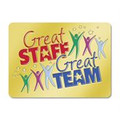 Great Staff Great Team Lapel Pin with Presentation Card