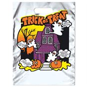 Haunted House Reflective Trick-Or-Treat Silver Bag