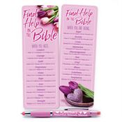 Find Help In The Bible Mother's Deluxe Bookmark & 3-in-1 Pen Gift Set