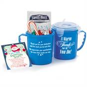 A Warm Thanks For All You Do! Holiday Soup Mug With Locking Lid Gift Set