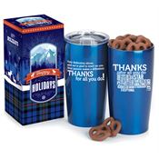 Thanks: Words Of Inspiration Everest Tumbler With Chocolate-Covered Pretzels
