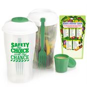 Safety By Choice Not By Chance 3-Piece Salad Shaker & Magnet Combo