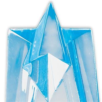 Sculpted Acrylic Star Awards (Blue)