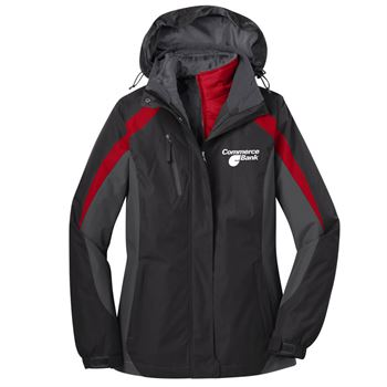 Port Authority® Women's Colorblock 3-In-1 Jacket - Personalization Available