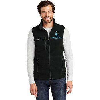 Eddie Bauer® Men's Full Zip Fleece Vest -Embroidery Personalization Available
