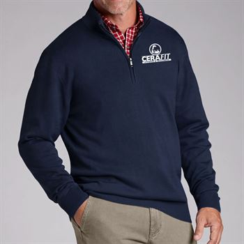 Cutter & Buck® Men's Douglas Long-Sleeve Half-Zip Mock - Personalization Available