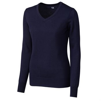 Cutter & Buck® Women's Douglas Long-Sleeve V-Neck - Personalization Available